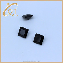 Fashionable black square cut cubic zirconia stones for rings