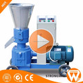 China Strongwin Energy saving 300-400kg/h small flat die wood pellet mill machine