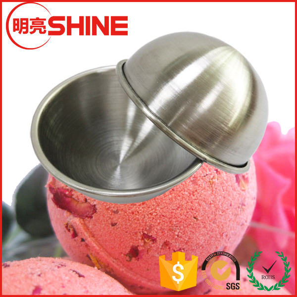 "4.5cm-8.5cm 1.77""-3.35"" Stainless Steel Hemisphere Half Mold For Bath Bomb Making"