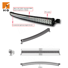 HG-8626-240 40 inch 240W 4x4 Curved Led Light bar Off road,auto led light arch bent