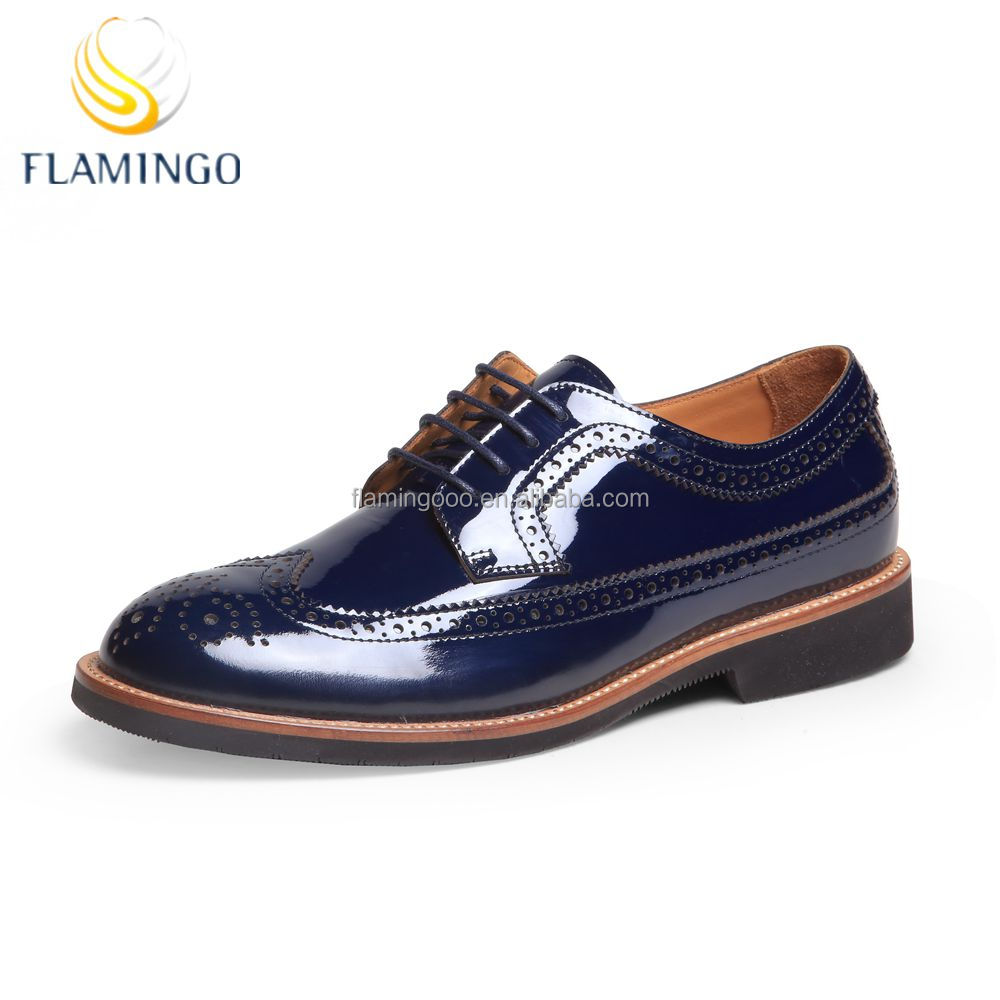 FLAMINGO 2016 LATEST ODM OEM men designer dress leather flat genuine leather shoes