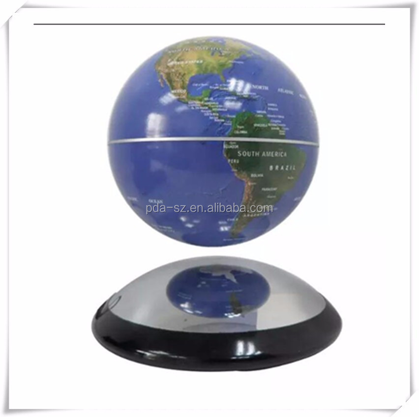 6 inch Levitation lon Magnetic Rotating Globe Floating Levitating Earth for decor advertising display stands