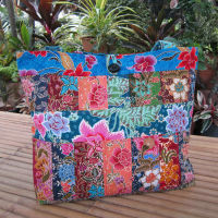 Fashion Flower Batik Shopping Bag Cotton Tote Bag Beach Bag