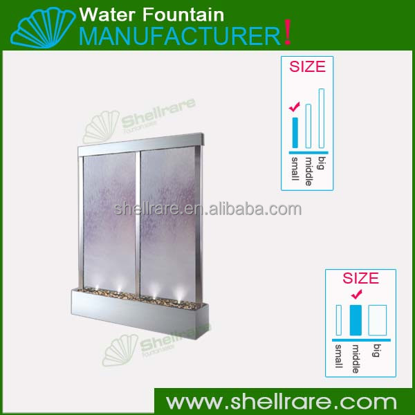 Stainless steel tempered clear glass water fountain garden ornament