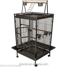 Bird Cage Large Play Top Parrot Finch Cage Macaw Cockatoo Pet Supplies Black