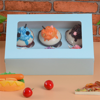 Clear PET window rectangular bakery boxes