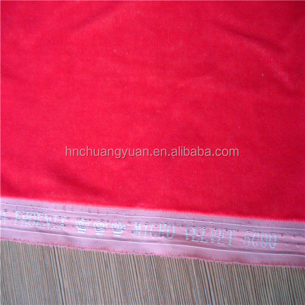 good quality 9000/5000 100% polyester micro velvet indian fabric wholesale