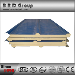 high density connected pu sandwich roof panel