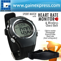 Water Resistant Wireless Heart Rate Monitor 30M Fitness HRM Watch Chest Strap Belt Sensor Sport Calorie Counter Timer 30~240bpm