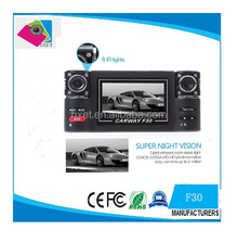 "120 Degrees Car DVR Car Black Box F30 with Dual Lens 2.7"" TFT LCD Screen car black box"