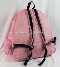 Wholesale lightweight polyester waterproof foldable school backpack for teens