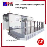 Semi -Auto Die Cutting Machine for paper,corrugated board cardboard with Stripping