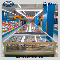 DID2215O1 Island Industrial Fridge Used as Refrigerators Freezers In Supermarket Equipment