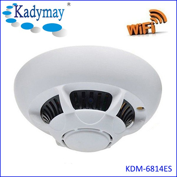 Hot Sale WiFi Nanny Cam 720p Spy Hidden Smoke Detector Home Anti Theft IP Camera