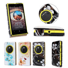 leather Flip case For Nokia Lumia 1020 with PC back cover