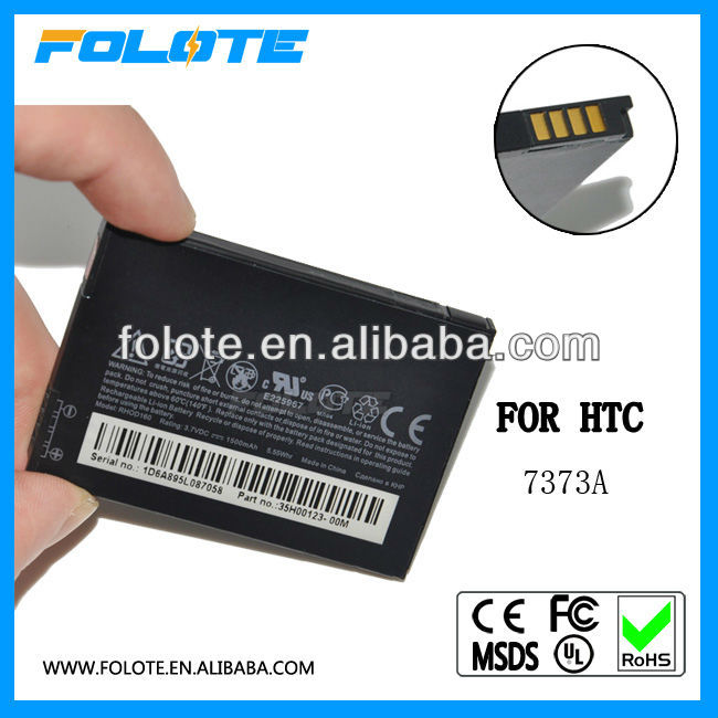 High quality battery 7373A for HTC RHOD160 8188, 7373A T7373, T8388,PRO2 EVO 4G Supersonic,Hero (Sprint) 1500MAH