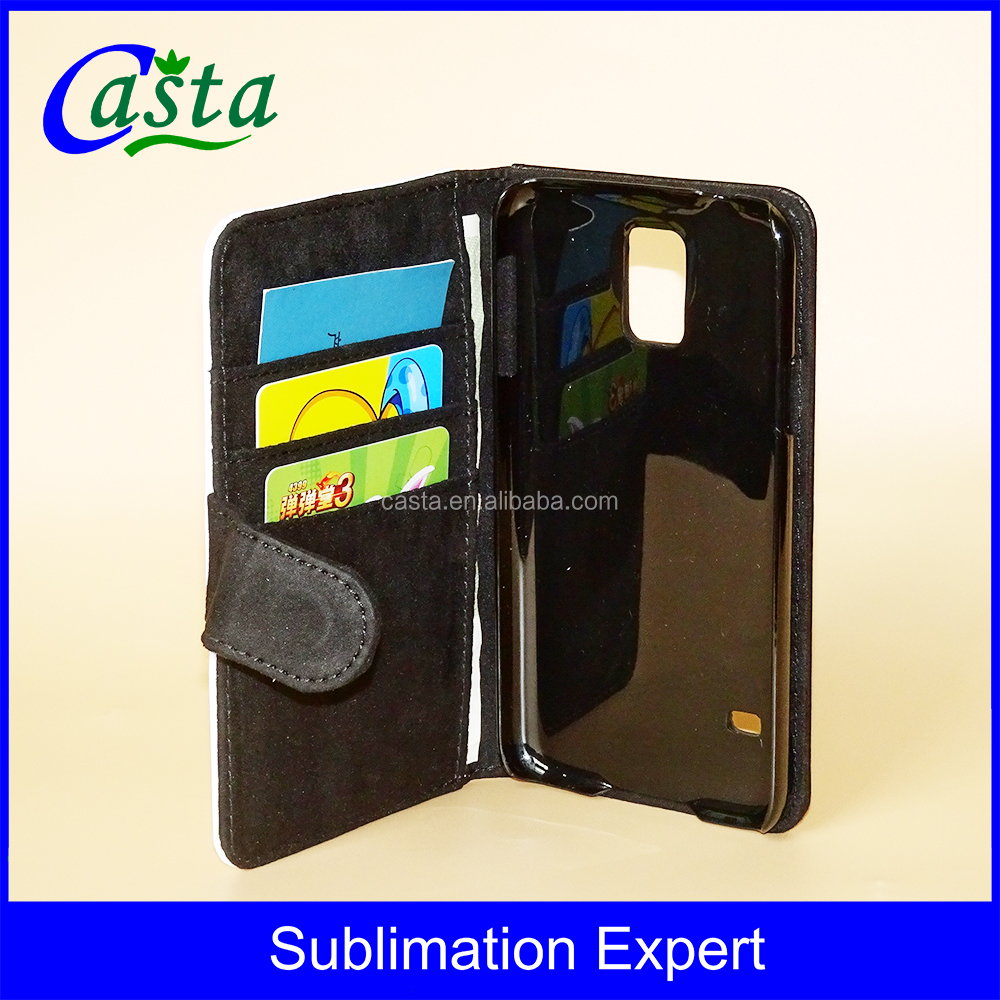Manufacturer With magnetic buckle Leather Wallet Blank Sublimation mobile phone case For Samsung Galaxy S5