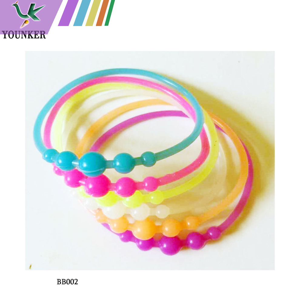 Latest popular big beads shape silicon bracelet wristband