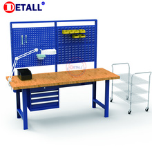 Detall- woodworkers working bench with ESD laminate top