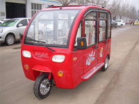 500W closed cabin cargo electric rickshaw tricycle with closed body
