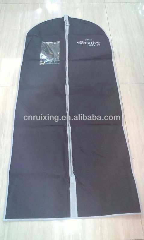 nonwoven disposable zippered garment bags