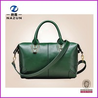 2016 New Products women top quality green big leather bag alibaba india