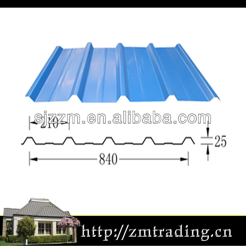 blue color coated galvanized roofing shingle