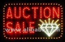 LED sign jewelry diamond auction sale