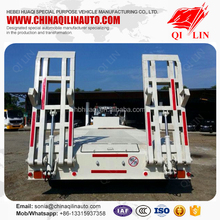 Max payload 60 tons low flatbed semi trailer with cheap price
