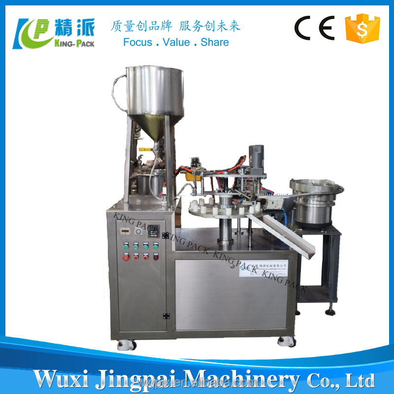 Hot sale KPSG-1 semi automatic super glue filling machine,small plastic tube glue filling machine