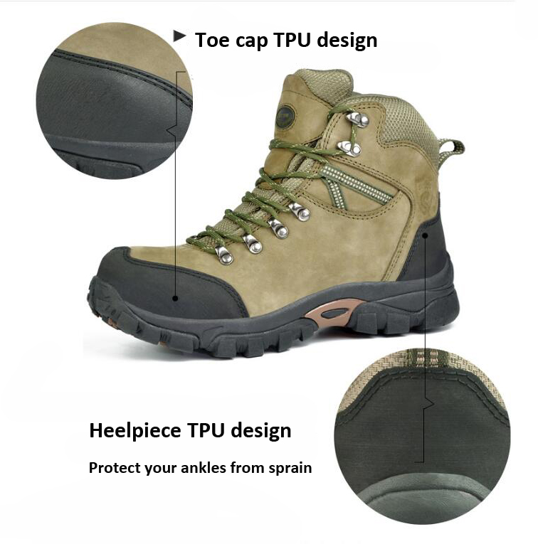 climbing boot high heel steel toe safety shoes light safety shoes