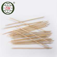 cheap price flat bamboo skewer, custom food picks