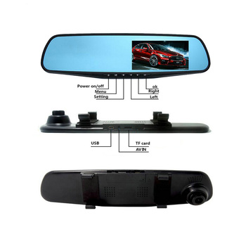 Car Dvr Rearview Hd Mirror With Usb2.0 Interface