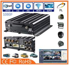 AHD 720P 960P 1080P 4/8 Channel MDVR 2TB hard disk and 256GB SD card bus dvr 3g gps integrate with reader
