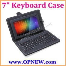 Factory Original PU Keyboard Case for 7 inch Android Tablet PC Leather Case with Stand USB/Mini USB/MicroOPNEW