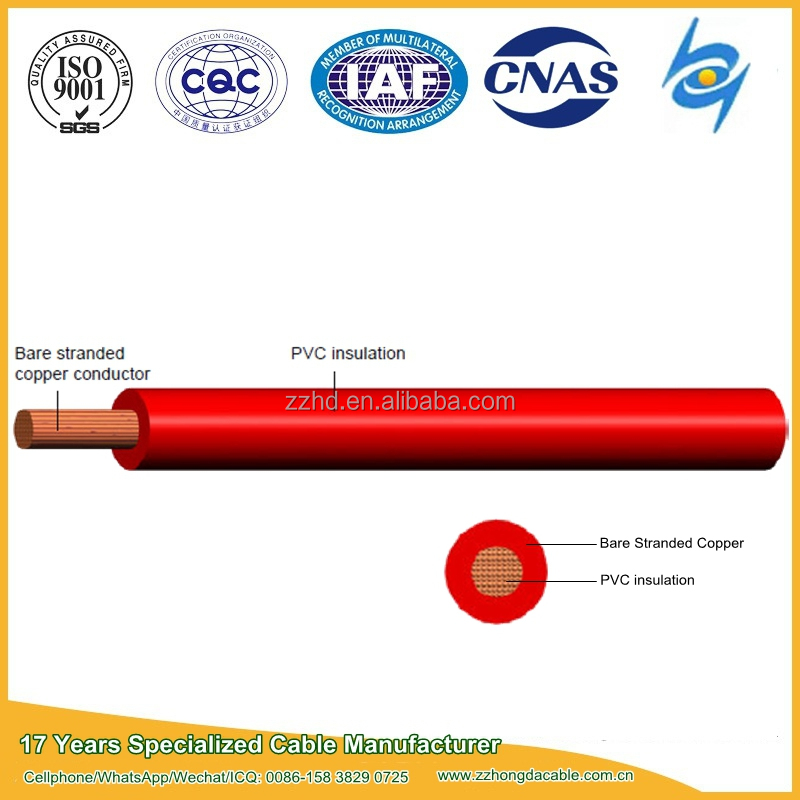 Low voltage Single Core flexible copper conductor Cable