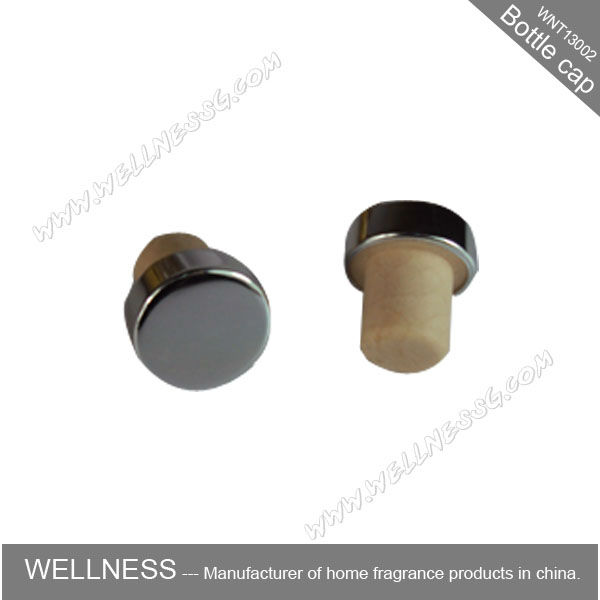 natural aluminum cork stopper with metal