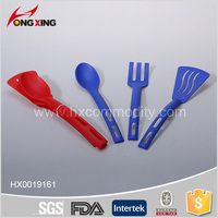 4 pcs set Spatula Ladel Strainer Serving Spoon Plastic Kitchen Utensils for Cooking