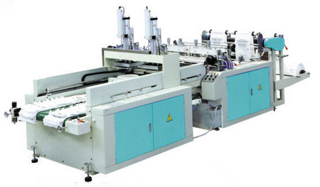 XD-PT800 Automatic Double Channels T-shirt Bag Making Machine