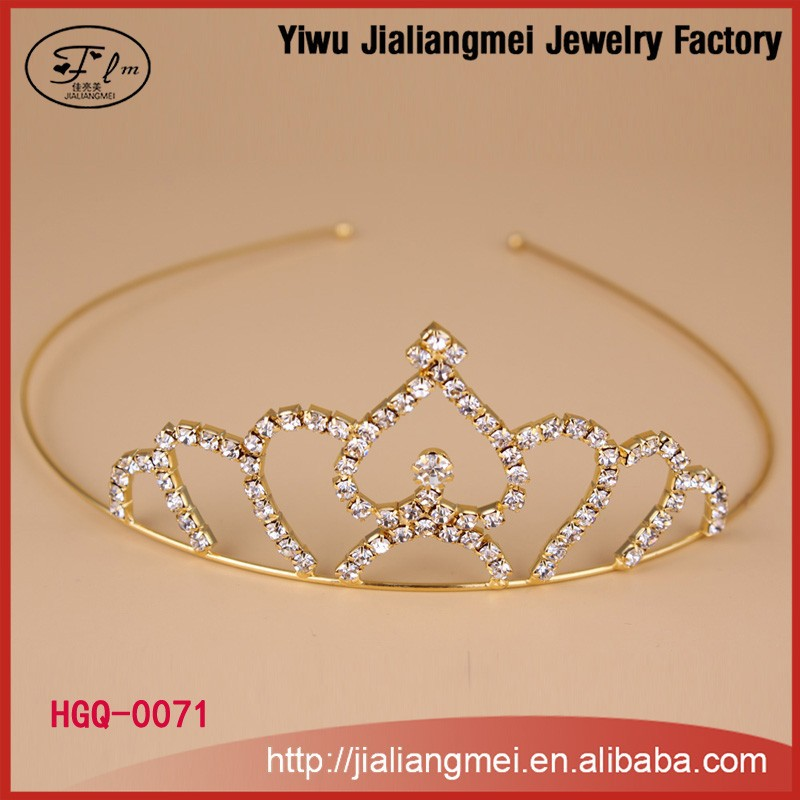 2015 latest crystal hair band mini order tiara