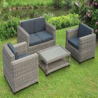 Big round SGS PE rattan with special weaving rattan outdoor sofa set