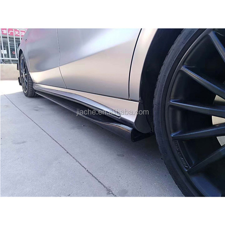 Carbon Fiber Side Skirts Apron Spoiler for Mercedes Benz W176 A Class A160 A180 A200 A250 A45 CLA <strong>W117</strong> CLA180 CLA45 AMG 2013-17