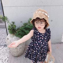 2019 knee-length New product party cotton sleeveless kids wear <strong>girls</strong> <strong>dress</strong>