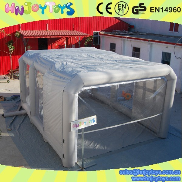 Pvc tarpaulin portable inflatable paint spray booth for for Mobile auto painting