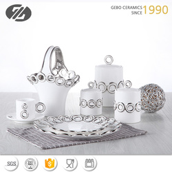 excellent houseware ceramic plates,canisters,CUTLERY HOLDER , cup and saucer, plating finished dinner ware