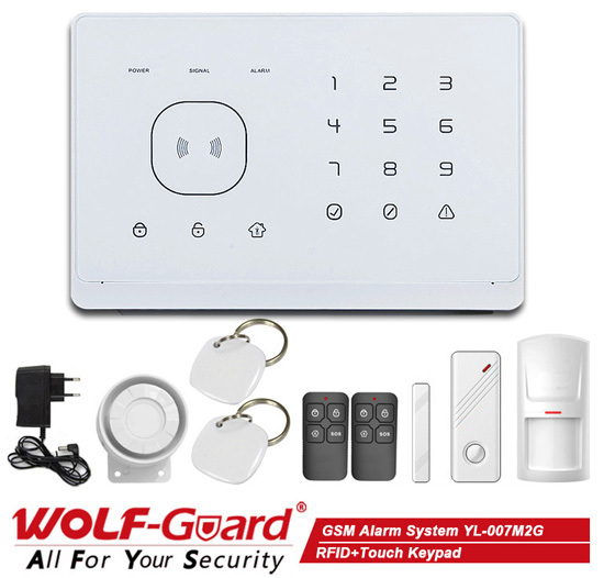 APP Control and RFID+Touch Keypad GSM wireless home security alarm system (YL007M2G)