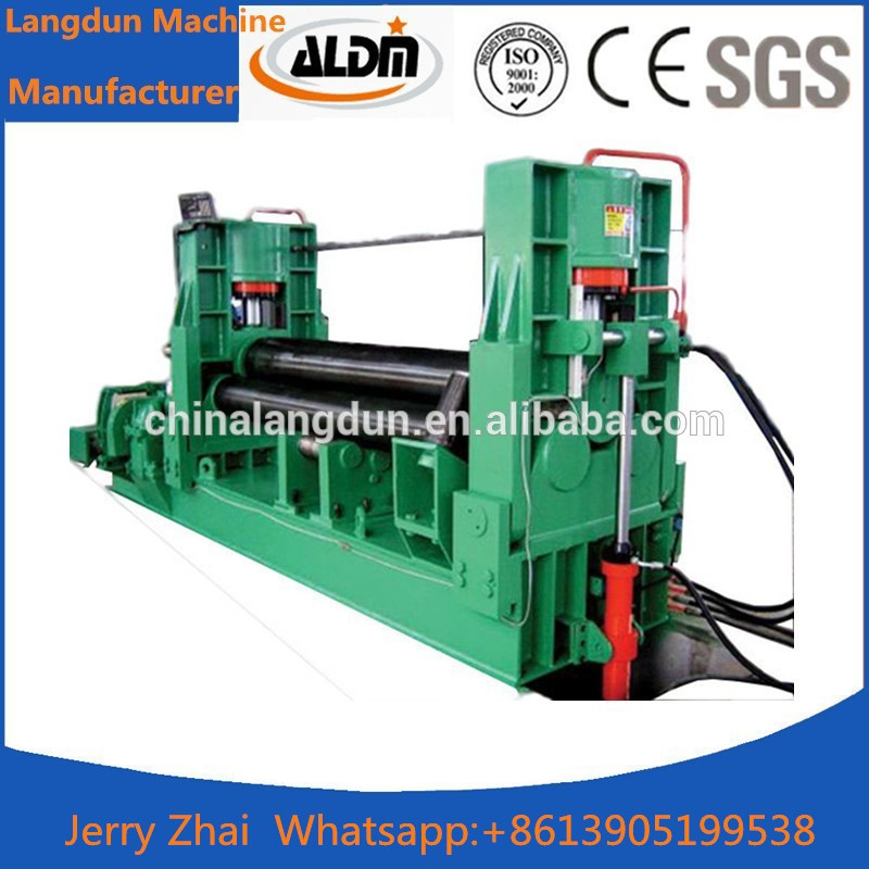 <strong>W11</strong> 6X2500 Plate rolling machine,3-Roll forming machine, roll bending machine