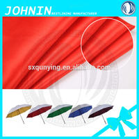 polyester taffeta lining fabric taffeta PU/PVC coated free waterproof fabric for umbrella