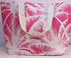 High quality lovely coconut palm custom printed cotton blank tote bag