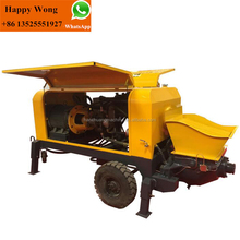 Small Hydraulic Double-piston Concrete Pump for ready wet mix refractory concrete pumping/grouting